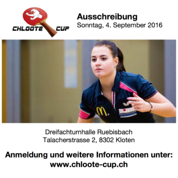Chloote-Cup 2016 – Anmeldung offen!