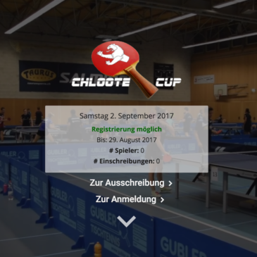Chloote-Cup 2017: Anmeldung offen